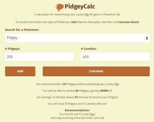 PidgeyCalc